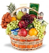 Food & Fruit Baskets: Royal Get Well Fruit and Gourmet Basket