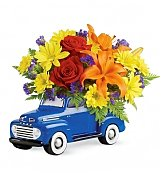 Flower Bouquets: Vintage Ford Pickup Bouquet