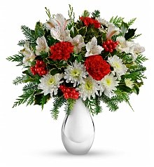 Flower Bouquets: Silver and Snowflakes Bouquet