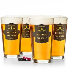 Personalized Keepsake Gifts: Personalized Tap House Pint Glasses