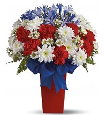 Flower Bouquets: Patriotic Petals Bouquet